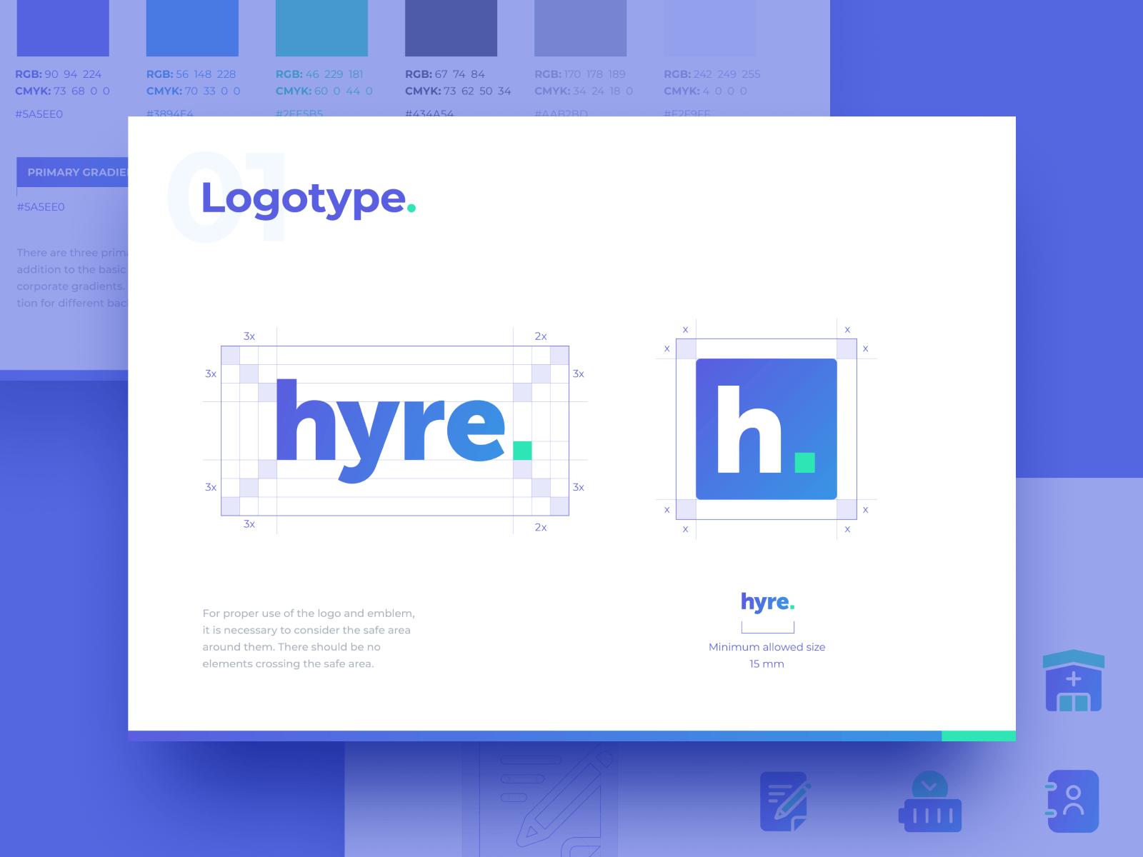 """Logo Design for Locum Booking App """"Hyre"""""""