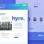 """Web Design for Locum Booking App """"Hyre"""""""