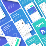 "App Design for Locum Booking App ""Hyre"""