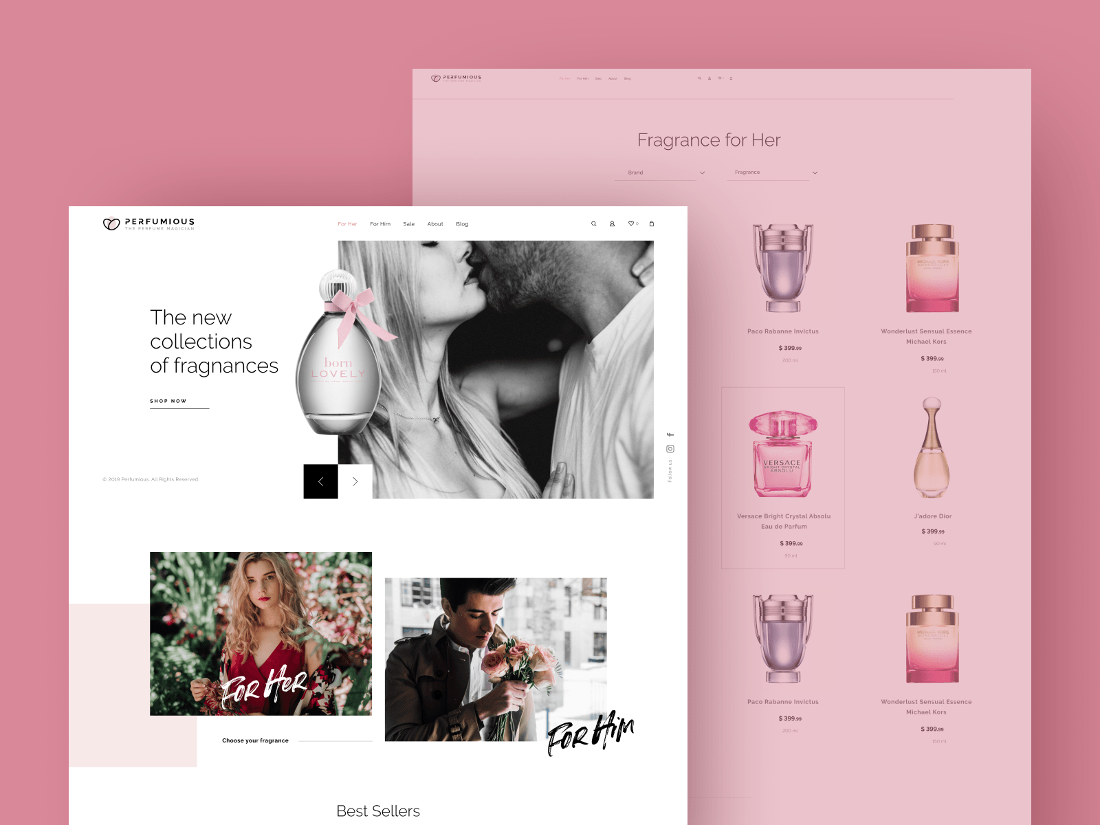 "Web Design for Perfume Retailer ""Perfumious"""