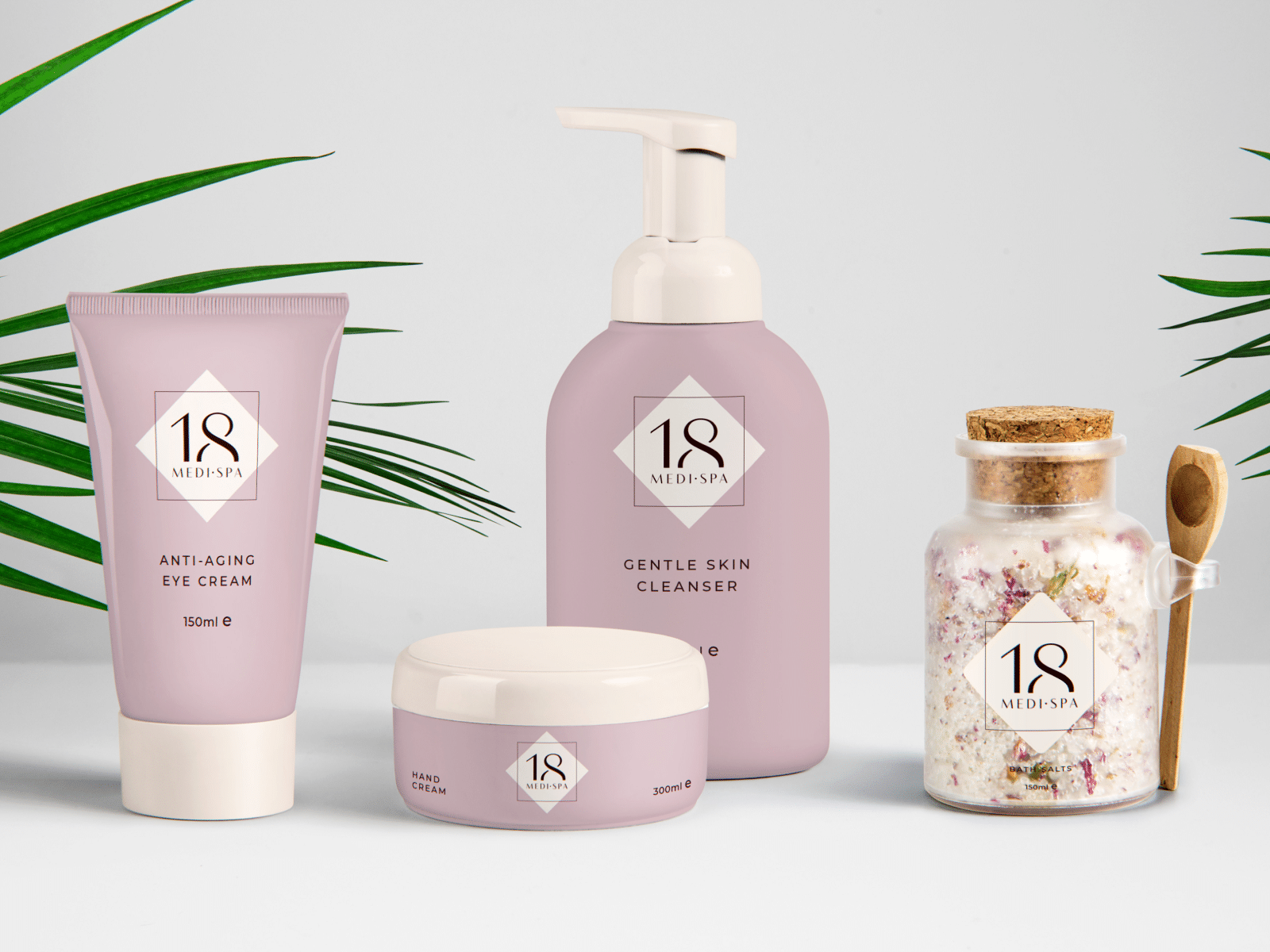 "Logo and Packaging Design for Health Spa ""18 Medi Spa"""