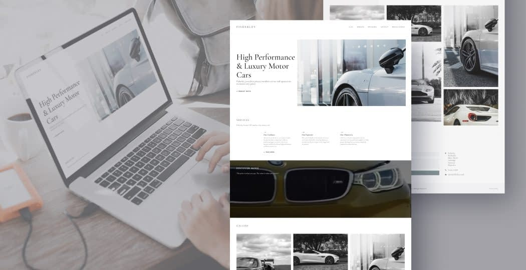 "Web Design for Luxury Cars Trader ""Fisherley"""