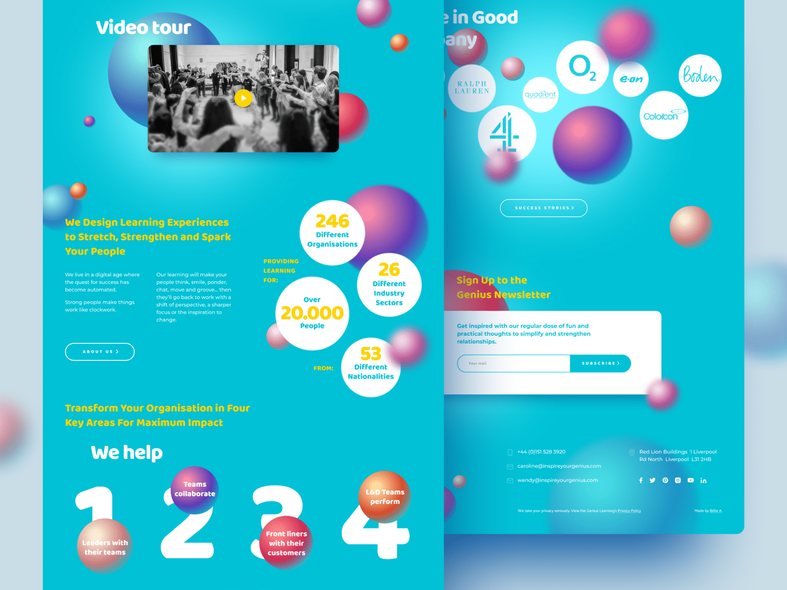 "Web Design for Training Company ""Genius Learning"""