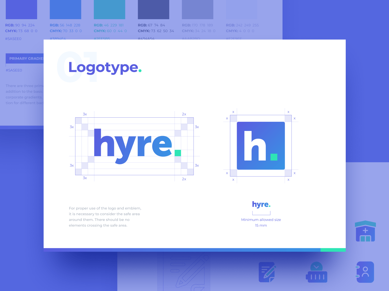 "Logo Design for Locum Booking App ""Hyre"""