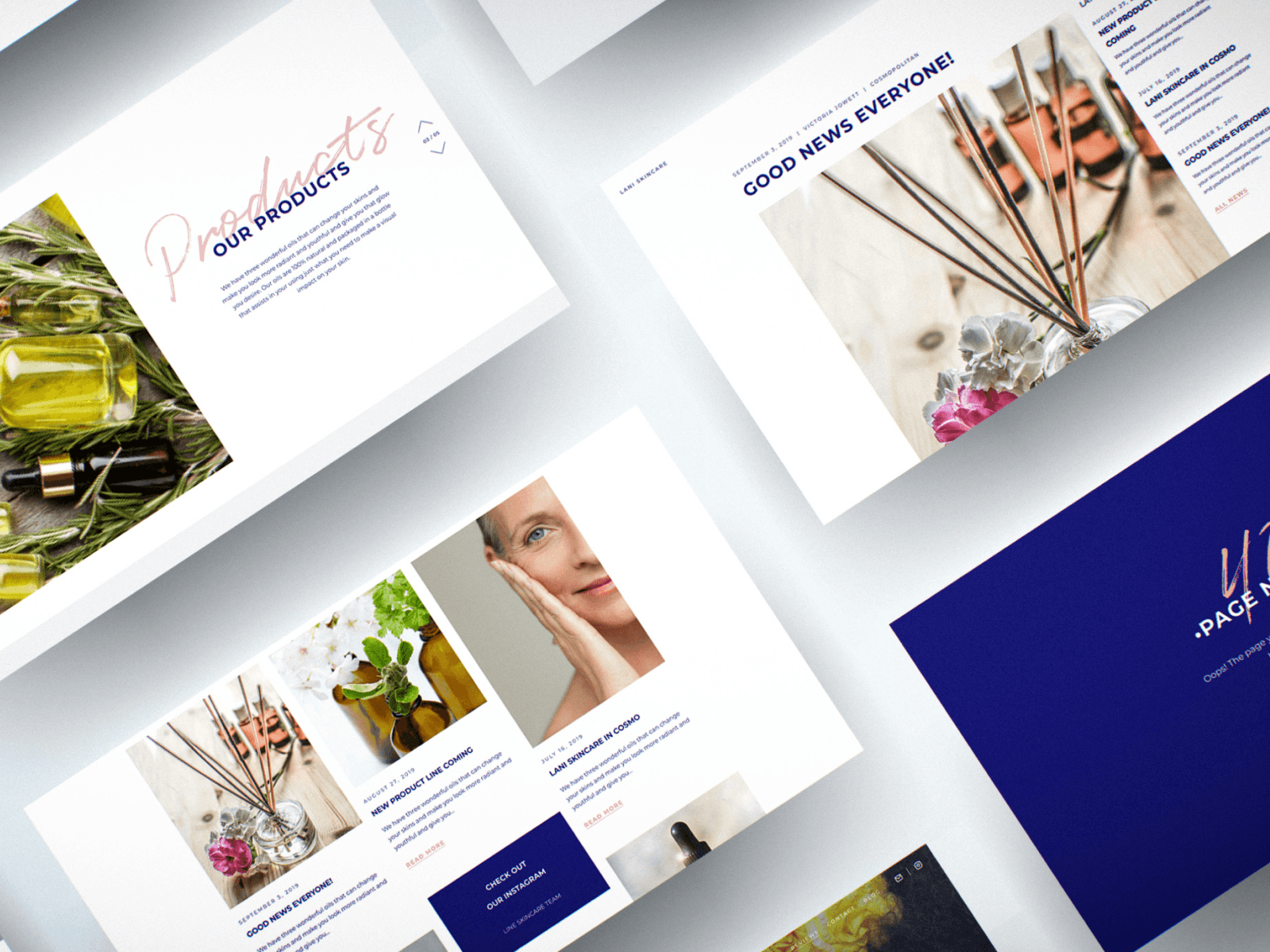 "Web Design for Natural Beauty Company ""Lani Skincare"""