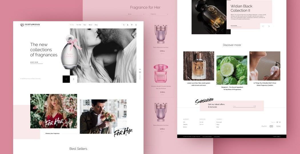 "Web Design for Perfume Retailer ""Perfumious"""