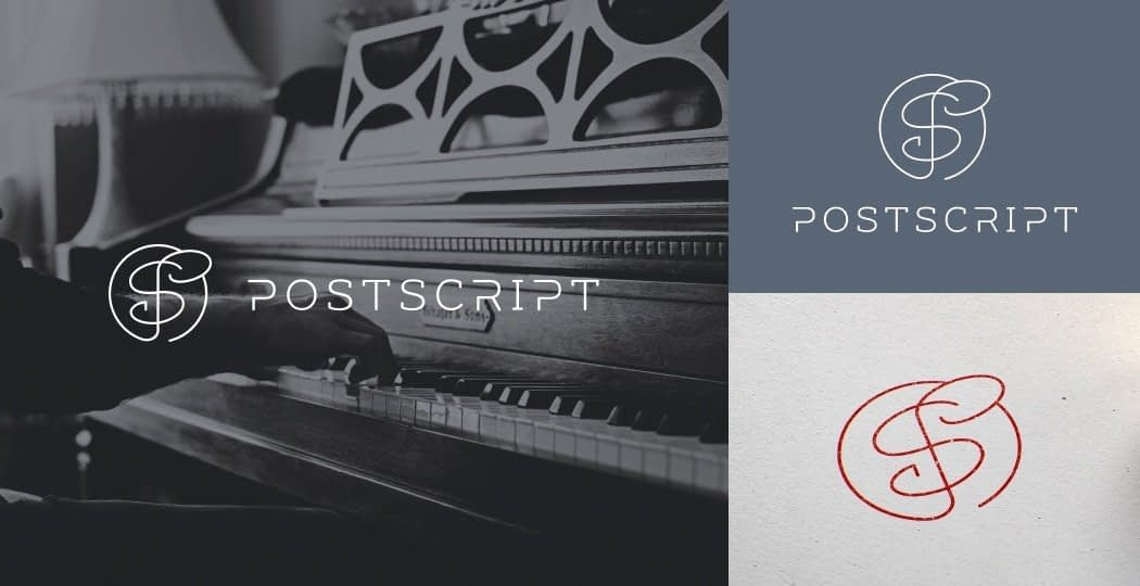 "Logo Design for German Classical Band ""Post Script"""