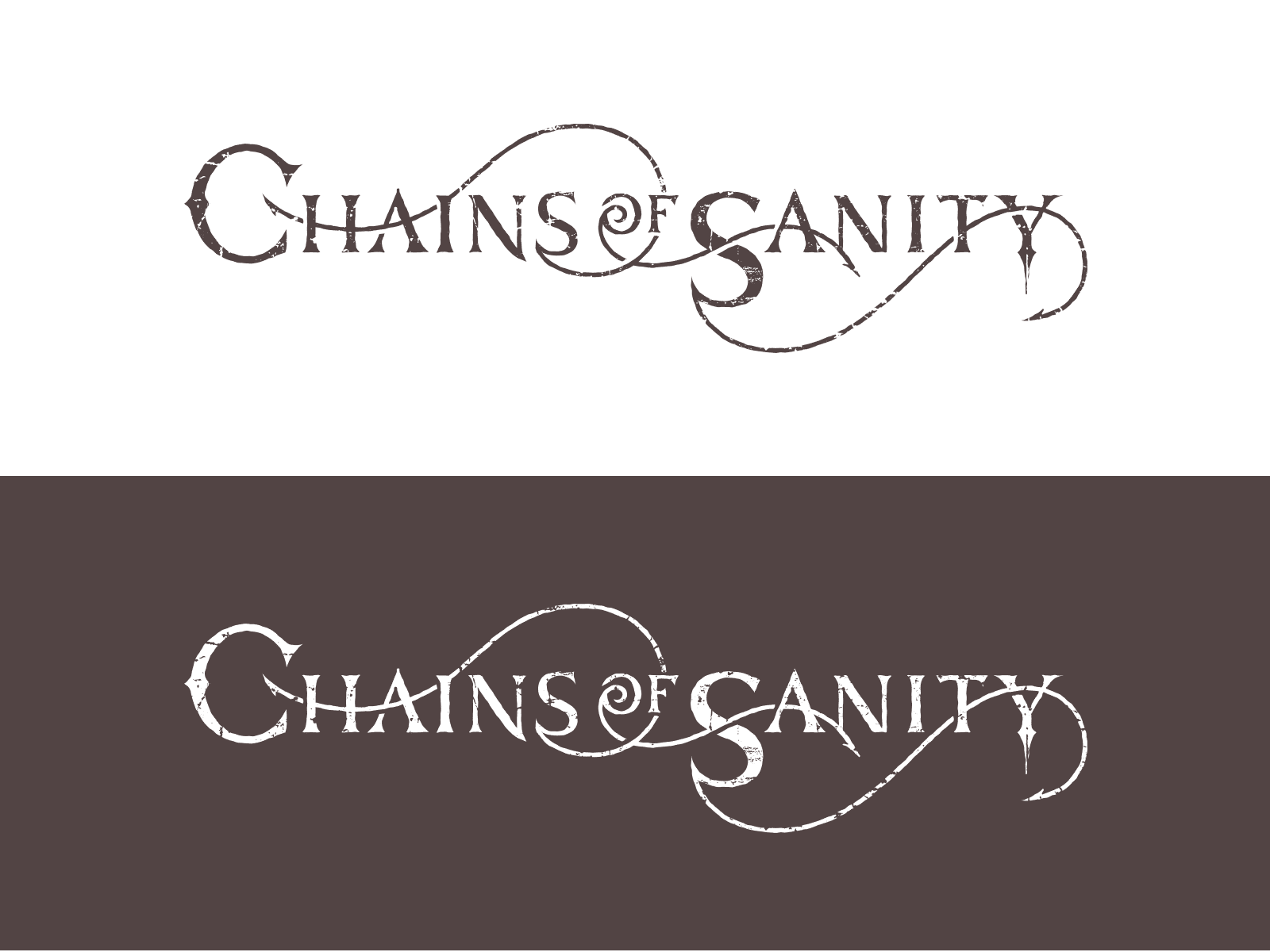 Logo Design for Metal Band Chains of Sanity
